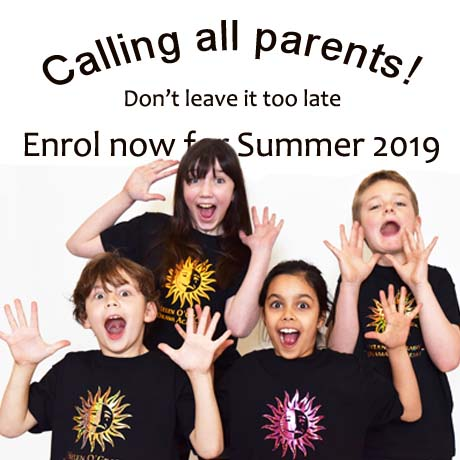 Enrol now for Summer 2019 at Helen O Grady drama school croydon